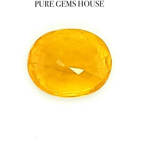 Yellow Sapphire (Pukhraj) 7.23 Ct Certified