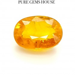 Yellow Sapphire (Pukhraj) 9.5 Ct Certified
