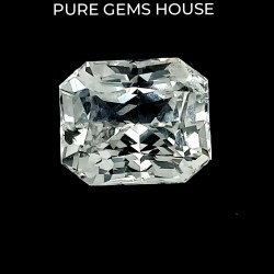 White Sapphire 5.65 Ct Best quality